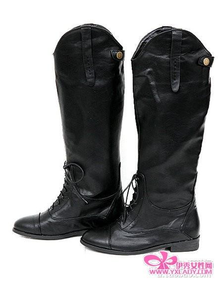 时尚 靴子/潮流靴子+围脖韩名模时尚保暖搭