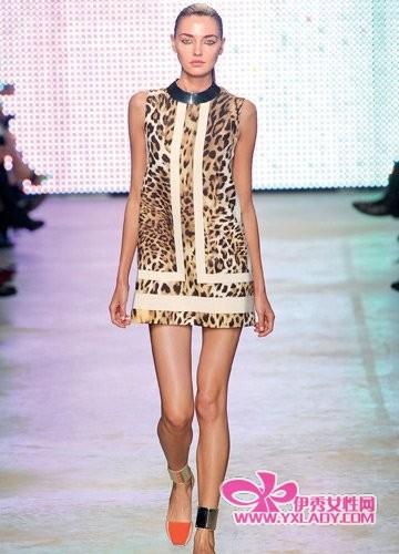 【图】新式豹纹连衣裙不要老气超活力