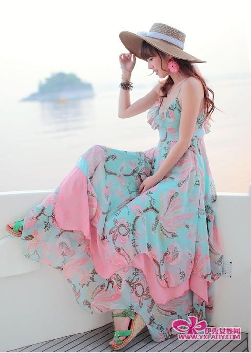 【夏季长裙搭配】小长假快乐游波西米亚裙更显身段