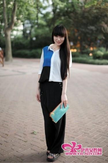中国街拍】短裤扮出小清新长裙穿出欧美范儿