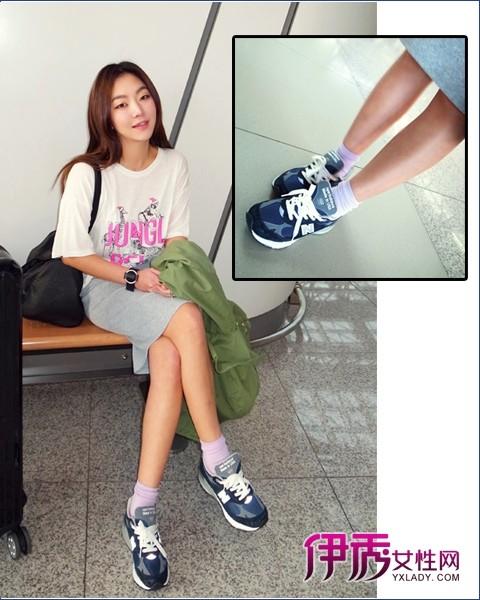 女生球鞋搭配图片