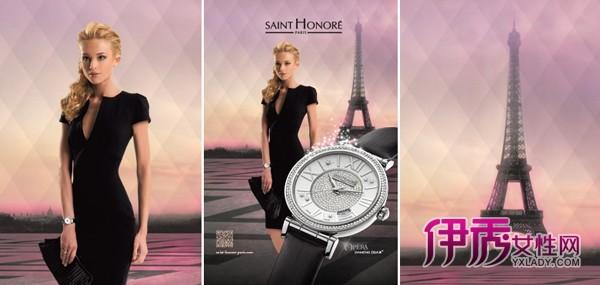 色彩,菱形排列,埃菲尔铁塔,名模laurie……所有这些都给该广告增添了