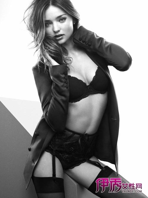 超模米兰达·可儿最新性感内衣大片 登gq男士获胜赞图片