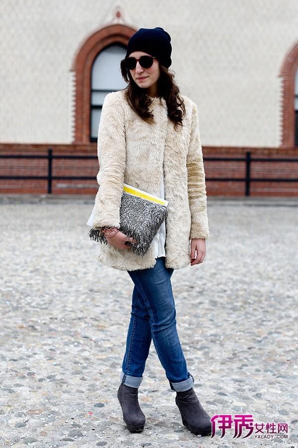 米兰/【图】米兰时装周街拍紧身裤和宽外套的显瘦策略03