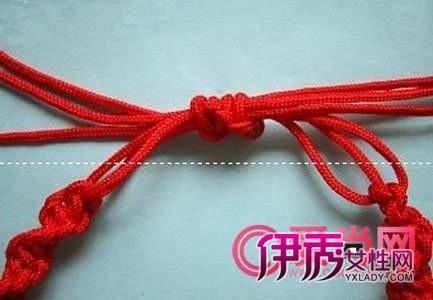 怎么编红绳手链 转运红绳手链简单编法图解(4)_饰品 ...