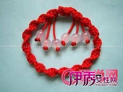 怎么编红绳手链 转运红绳手链简单编法图解
