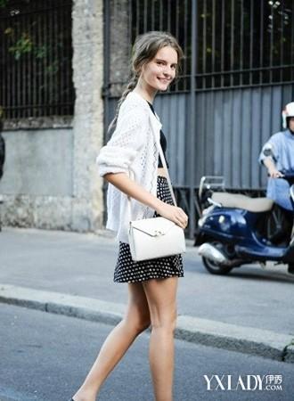 欧美街拍春装轻薄针织衫外套图片