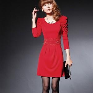 红色连衣裙搭配_dress.yxlady.com-伊秀服饰网 300