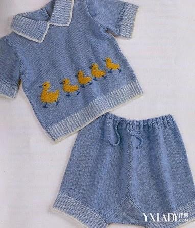 儿童毛衣编织款式图-可爱小鸭子图解图片
