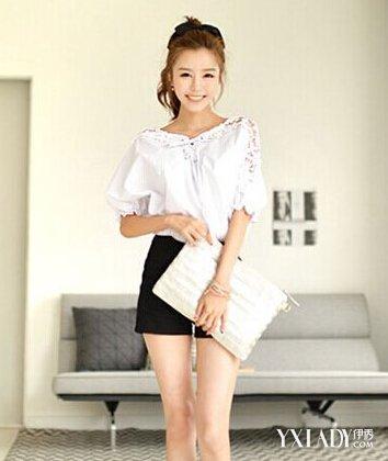 【图】衣服搭配图片 高腰短裤显高 354
