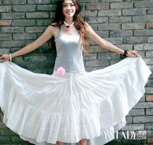 【图】白色长裙配什么上衣