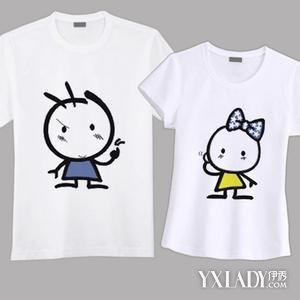 【图】情侣手绘t恤图案