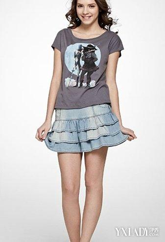 牛仔包臀裙的多种搭配图 让你清爽夏日美美的