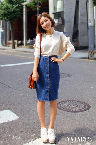 【图】牛仔裙搭配气质教你穿出清纯少女青衣方式美女图片图片