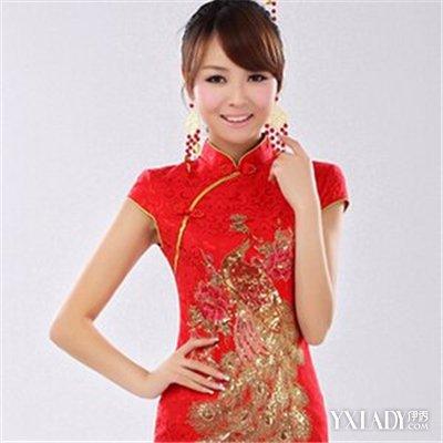 【图】旗袍红裙美女发型搭配图片