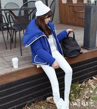 韩版学院风女冬装搭配 学院风韩版棉衣外套最甜美