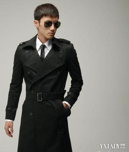 男士风衣外套_图经典的男士风衣外套更能凸显出男生的魅力与成熟感