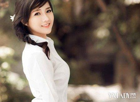 【图】衬衫女生衬衫艺术照白白色搭配美女助图域技巧丝图片