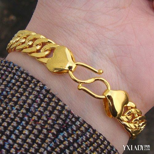 【图】男款黄金手链款式 推荐几款男士黄金手链图片