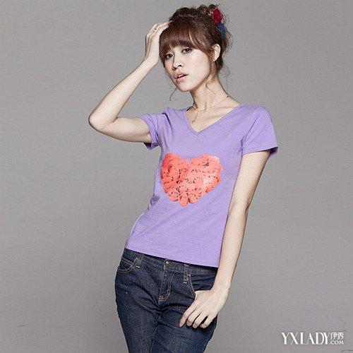 【图】紫色t恤配什么颜色的裙子?