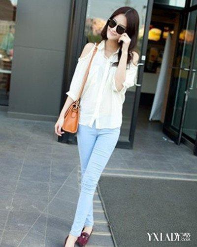 透明紧身裤显凹凸 3款时尚搭配让你变身街拍女神图片