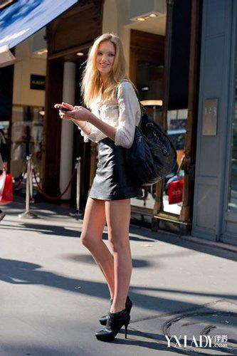 【图】小皮裙怎么搭配好看