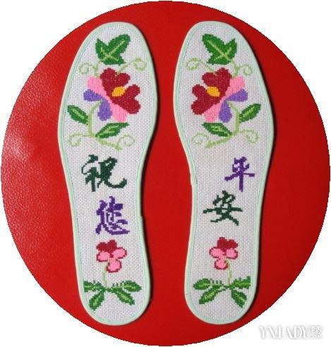 【图】靓妹十字绣鞋垫图纸
