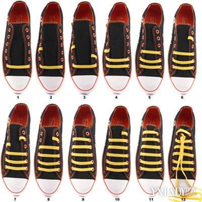 板鞋,球鞋,运动鞋,鞋带末梢总是露在外面比较难看,有什么办法使鞋带图片