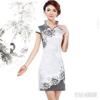 旗袍裁剪图图片欣赏 凸显女人完美曲线与魅力