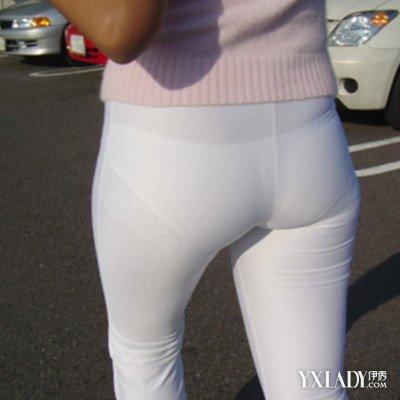 超薄透明紧身裤_