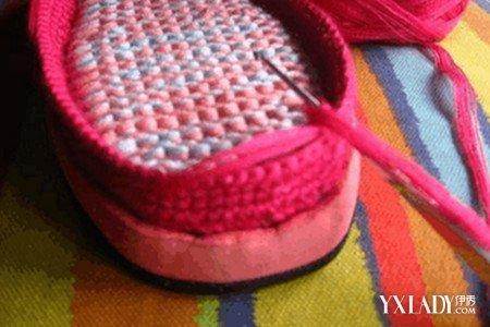 【图】家常钩毛线拖鞋图案图解
