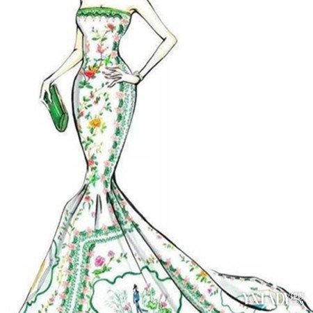【图】展示彩铅礼服手绘图片 各种礼服款式介绍