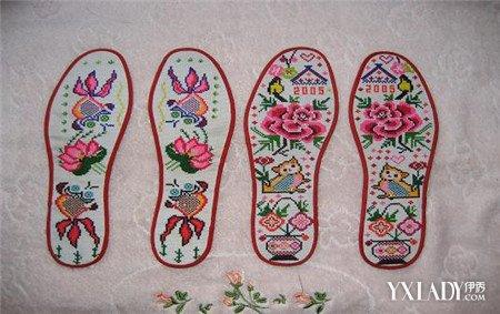 十字绣鞋垫花样图纸以民间生活和对美好生活的向往为