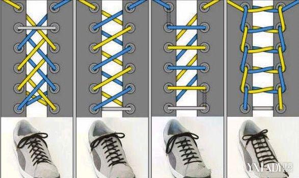【图】系鞋带的方法图解 8大技巧鞋带也能绑出个性图片