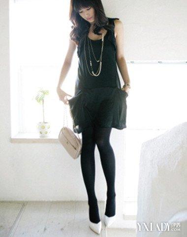 高跟丝袜岳�_黑丝袜白高跟鞋搭配 时尚黑色丝袜穿出你的轻盈甜美