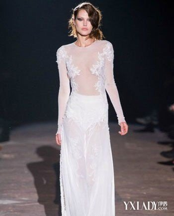 米兰时装秀透明薄纱 透视装引领时尚