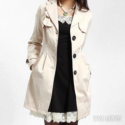女风衣_图新款韩板女装中秋毛料风衣怎样搭配好看?