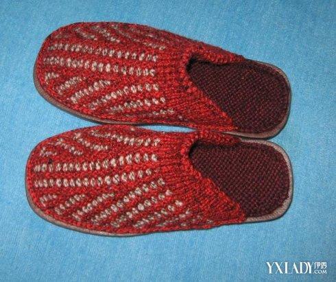 双色毛线棉鞋花样织法_60种棉鞋中间花样图纸图片