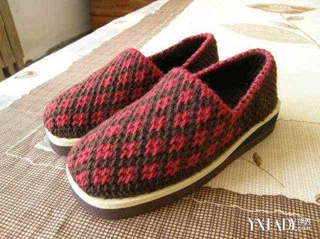 新版毛线棉鞋花图纸 编织