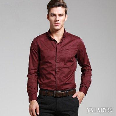酒红色衬衫搭配图片展示 教你在各种场合下的衬衫穿法