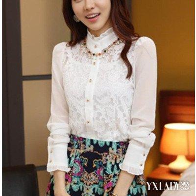 雷丝打底衫女生长袖图片欣赏 长袖蕾丝打底衫怎么搭配更好看图片