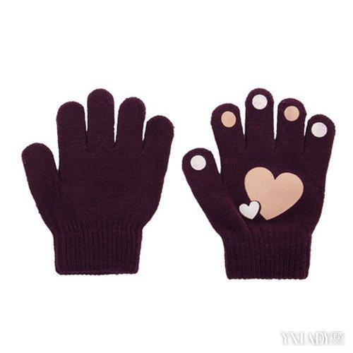 花纹的手套的编织