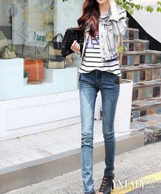 打底裤时尚牛仔裤搭配 冬季女装显瘦就这么穿