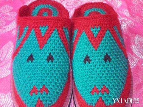 【图】棒针编织毛线拖鞋图案大全