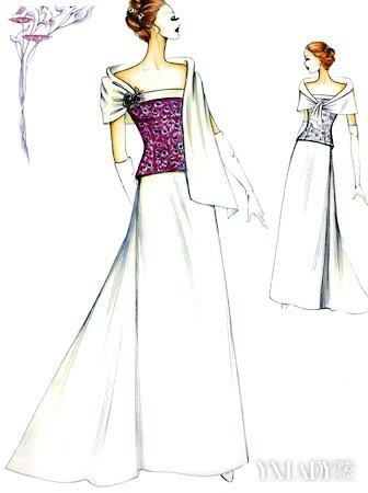 【图】晚礼服设计图展示 揭秘晚礼服的着装技巧