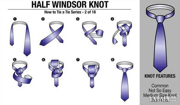 【图】温莎结领带打法图解讲解
