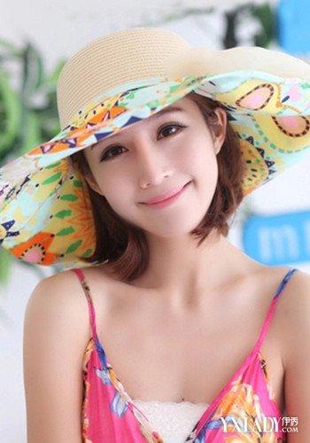 戴帽子长发背影头像海边分享展示图片