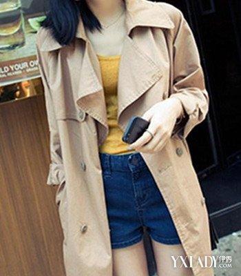 韩版女款风衣_图韩版工装风衣女款新品推介3款时尚搭配让你气质满分