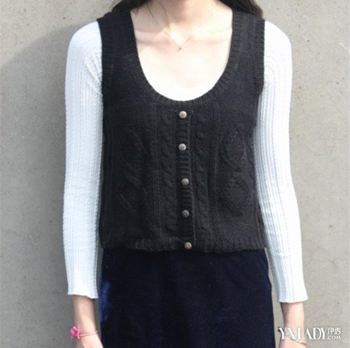 【图】教你背心毛衣编织方法