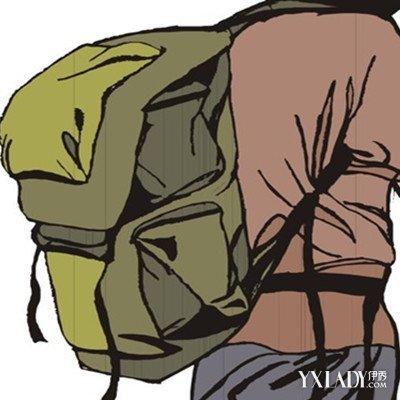 卡通背书包背影